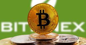 Bitcoin na frente da parede Bitfinex