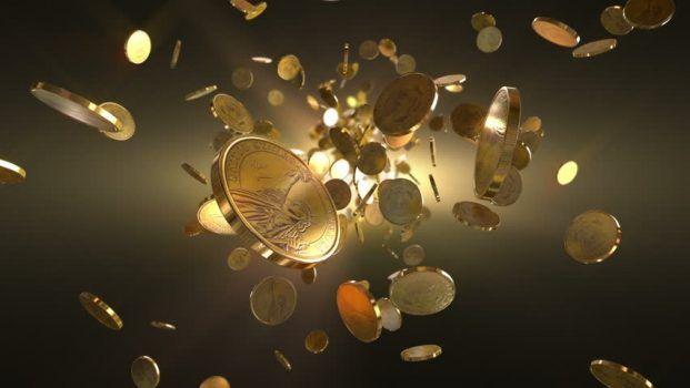 chuva de moedas