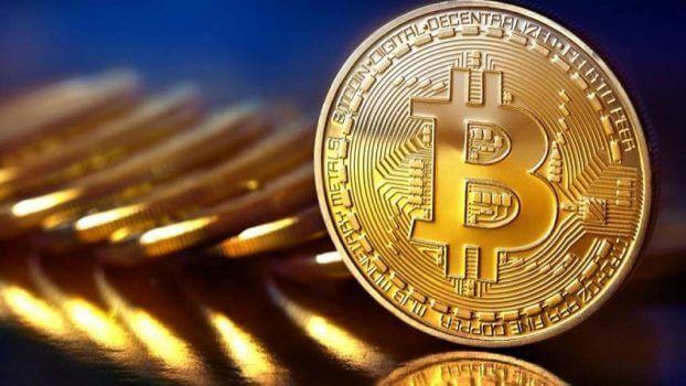 moeda dourada de bitcoin