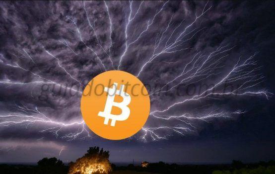 raios simbolizando a lightning network do Bitcoin