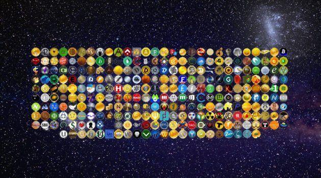 imagem com icones de diversas altcoins