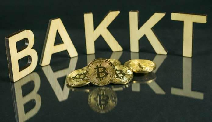 logo da bakkt e moeda de bitcoin
