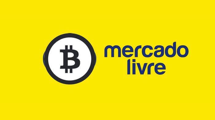 logo do mercado livre com o B do Bitcoin