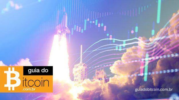 preço do bitcoin subindo como um foguete