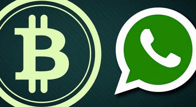 logo do bitcoin e do whatsapp