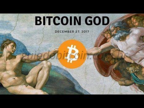 pintura de pablo picasso com gravura do bitcoin god