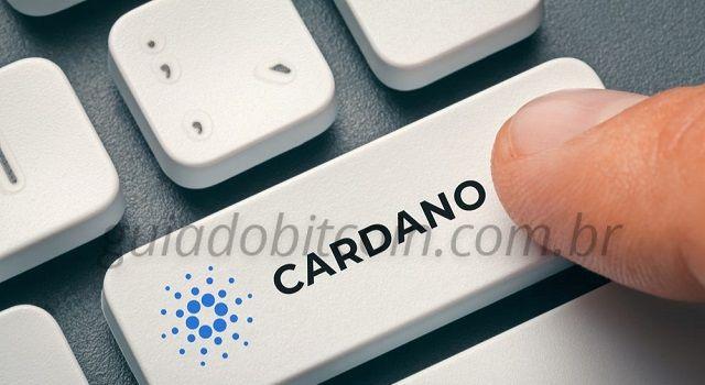 palavra cardano no botão teclado do computador