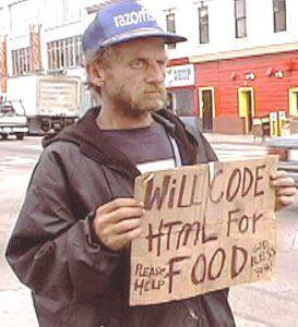 homem pedindo ajuda segurando cartaz de papelão