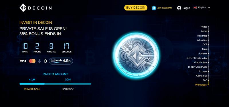 ICO de DeCoin invest