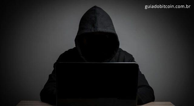 sombra simulando um hacker