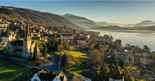 Fotografia aérea de Zug