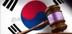 bandeira coreia do sul martelo justiça