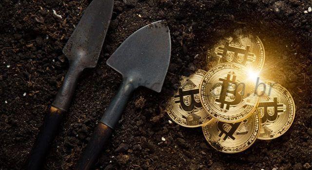 picareta e pá na mineração de bitcoin