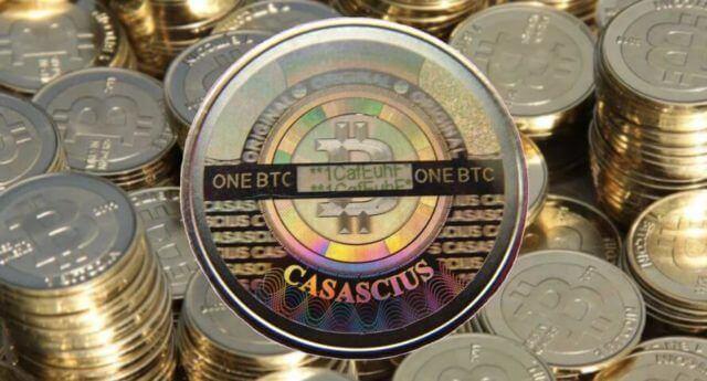 moeda de 1btc casascius