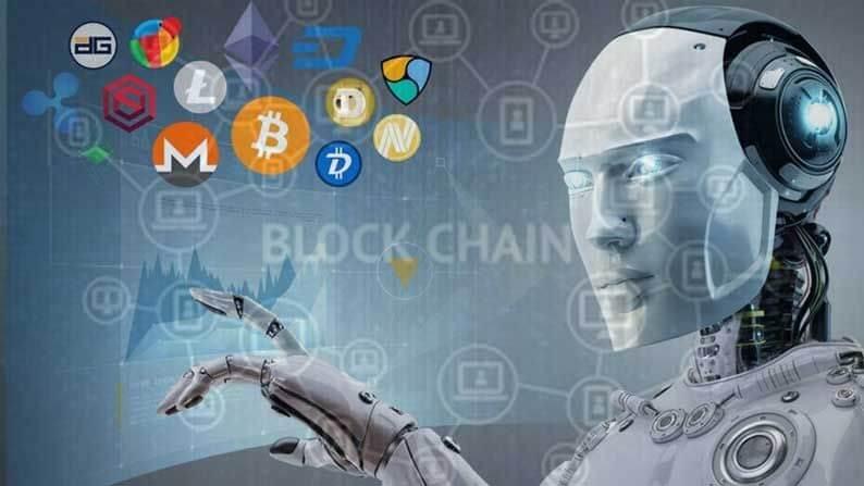 robô de arbitragem apontando para criptomoedas