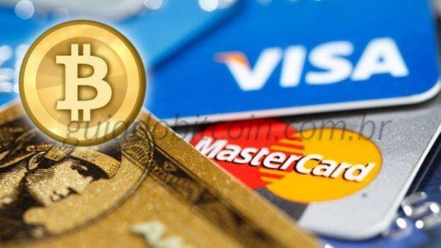 cartões de crédito e moeda de bitcoin