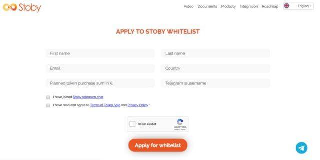 whitelist stoby